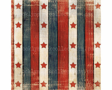 USA Flag Star, Primitive, Pattern Sheet, SUBLIMATION TRANSFER, Ready To Press, - Brooklyn Park Collections LLC