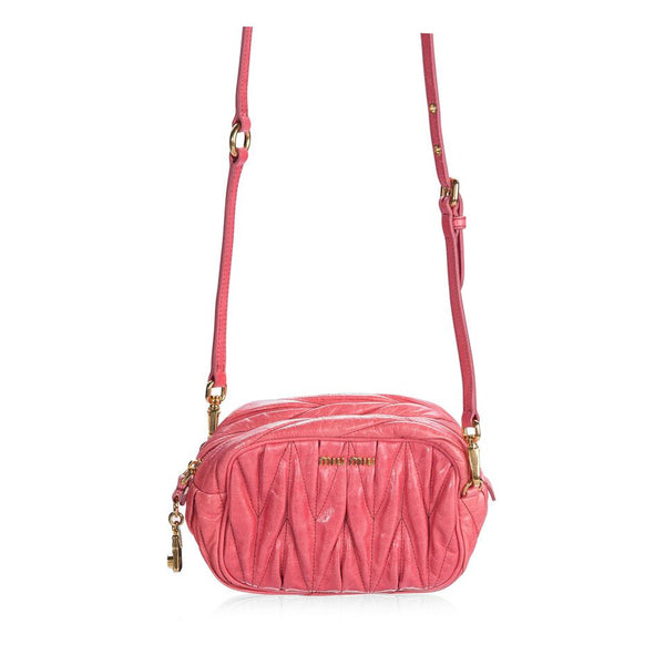 Matelassé Leather Small Crossbody