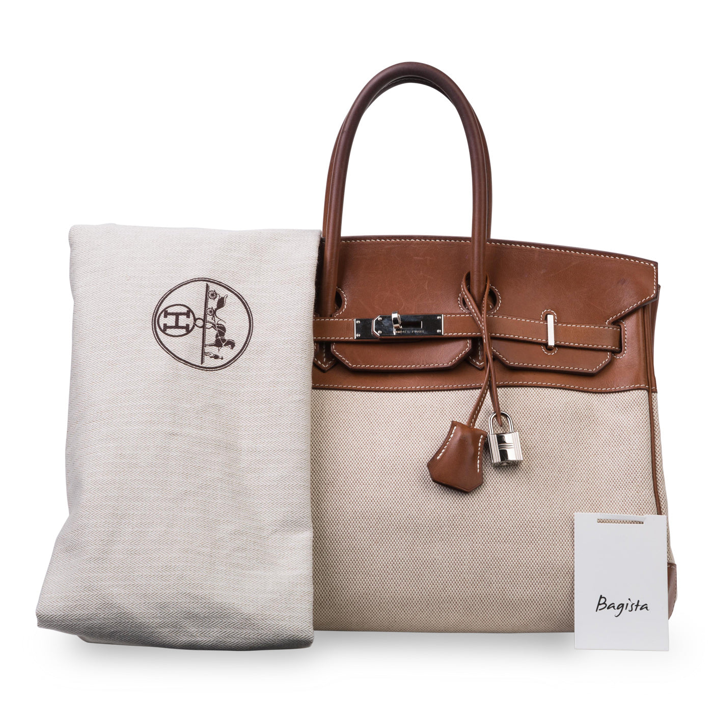 e9c05071a6 Hermès - Birkin 35 - Barenia and Ecru Canvas