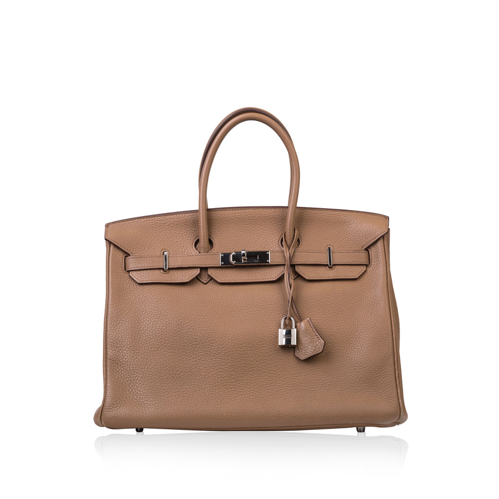 Birkin 35 - Natural Clemence Leather