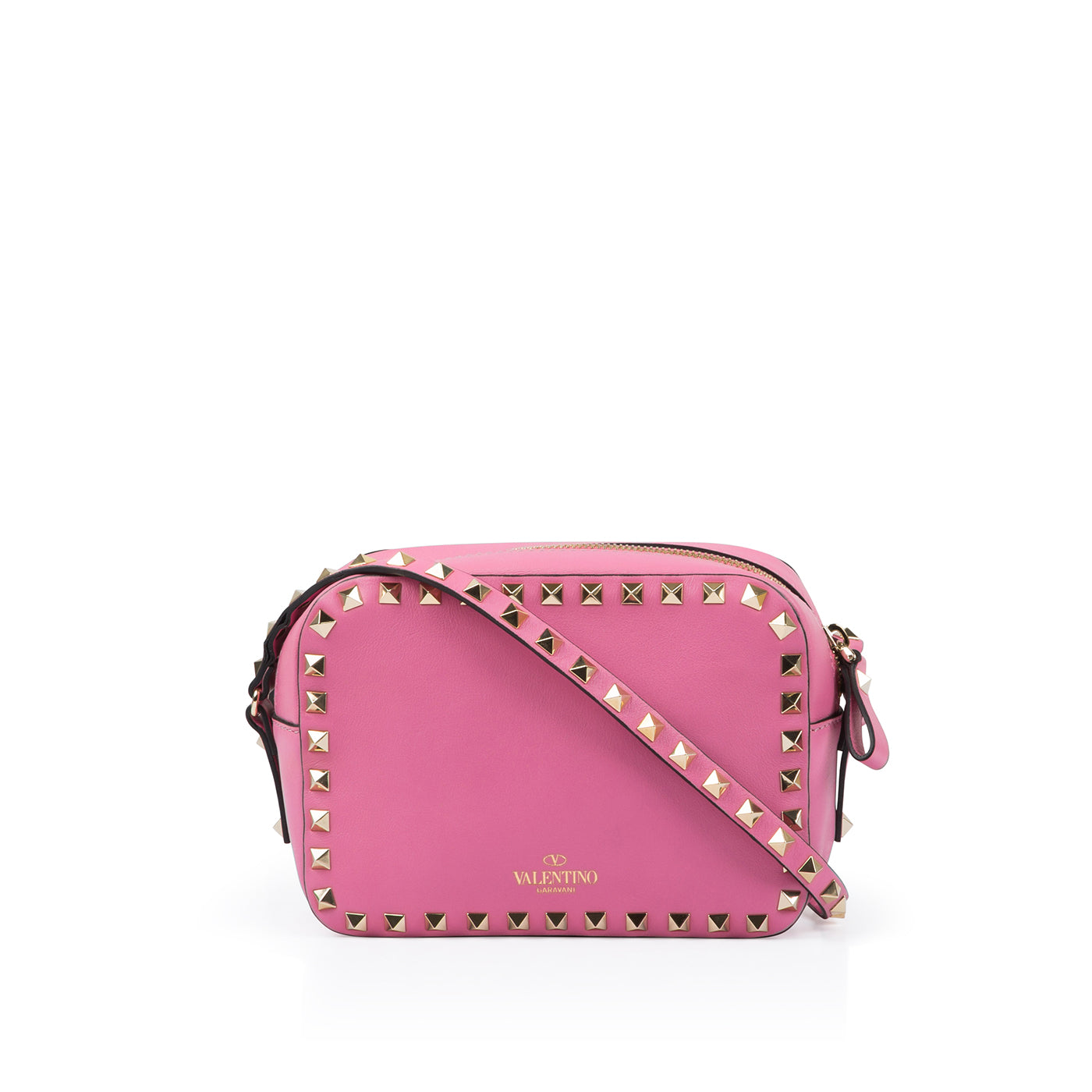 7a34aa5e061b Valentino - Rockstud small leather bag - Pink - Pre-Loved