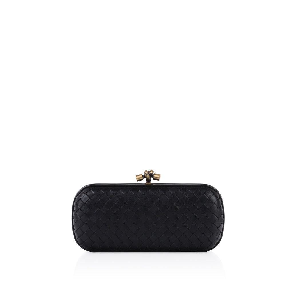 Leather Stretch Knot Clutch