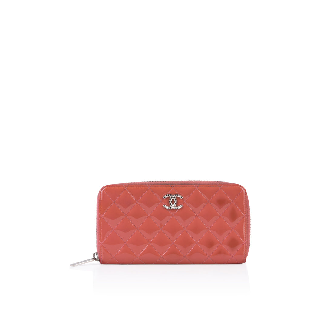 Patent Quilted Wallet