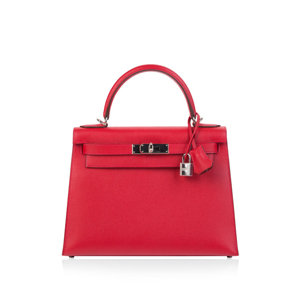Kelly 28 - Rouge Casaque Sellier Epsom