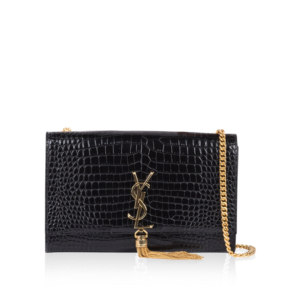 Kate Tassel Croc Embossed