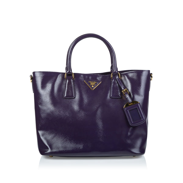 Glazed Saffiano Leather Tote
