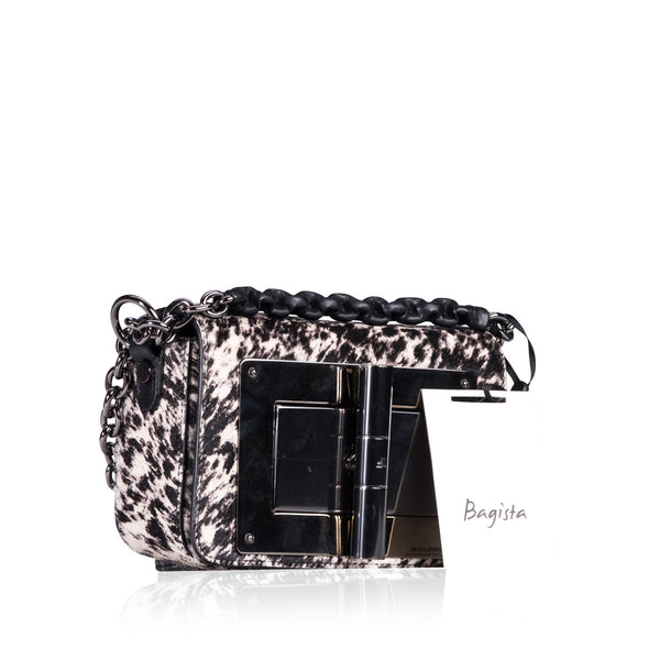 Natalia Printed Fur Bag