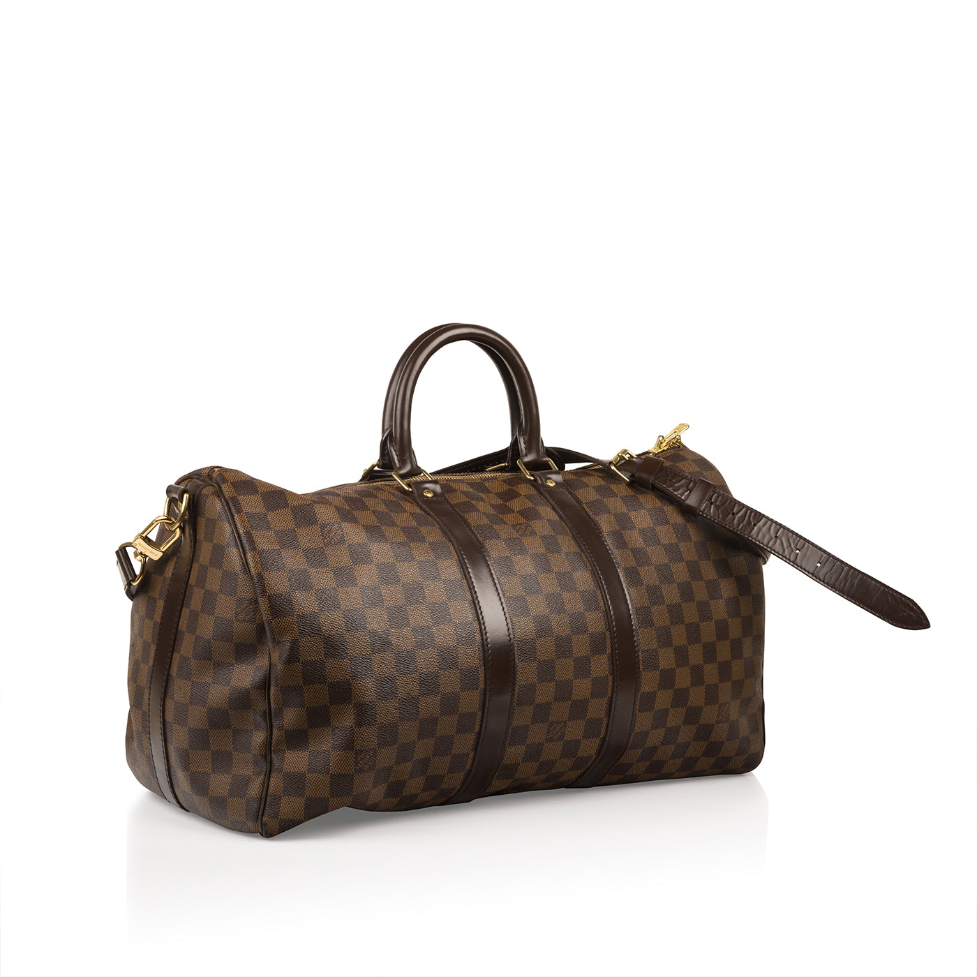 4c7e7e51313b Louis Vuitton - Keepall 45 Bandoulière - Damier Ebene Canvas - Brown ...