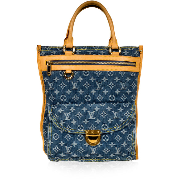 Sac Plat - Denim Monogram