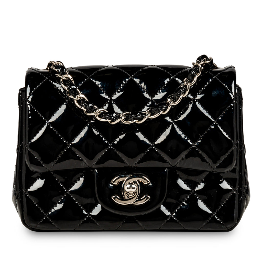 Classic Flap Bag - Mini Square - Patent