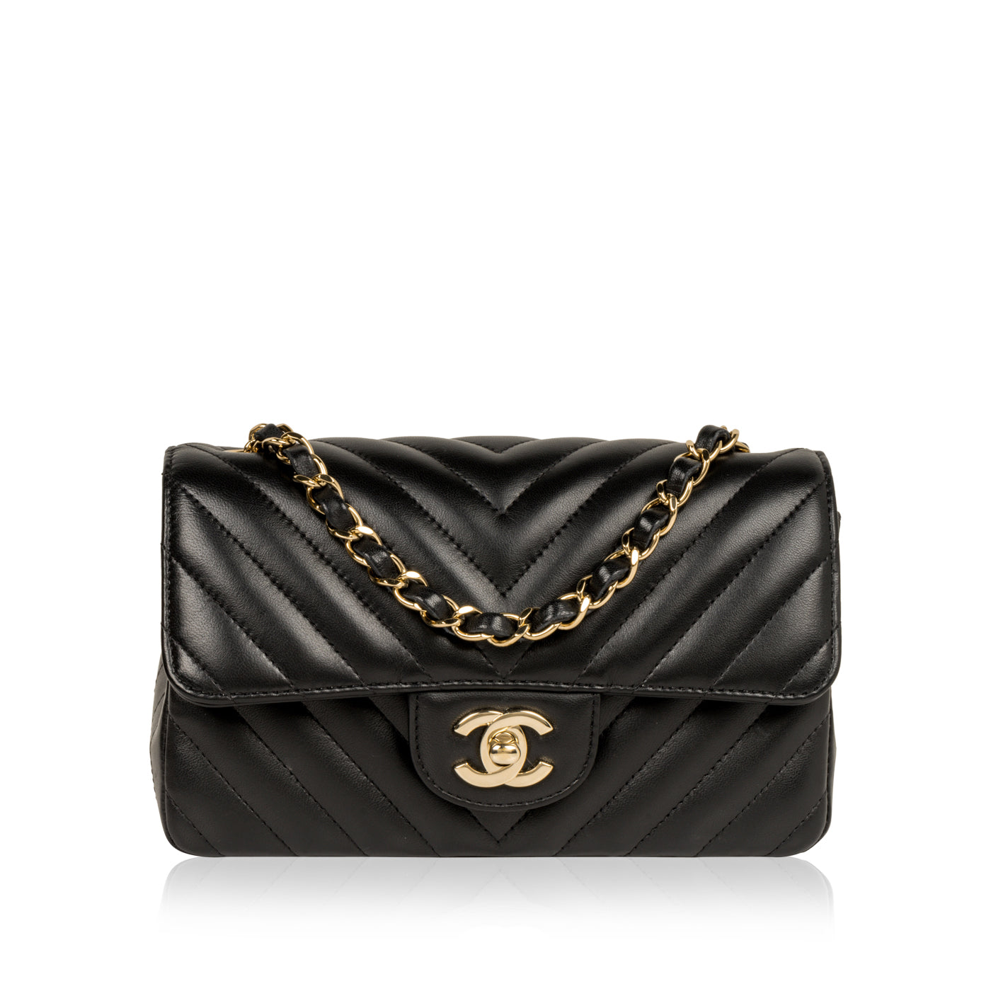 eb3bfd601c703a Chanel - Mini Square Classic Flap Bag - Black Caviar - GHW | Bagista