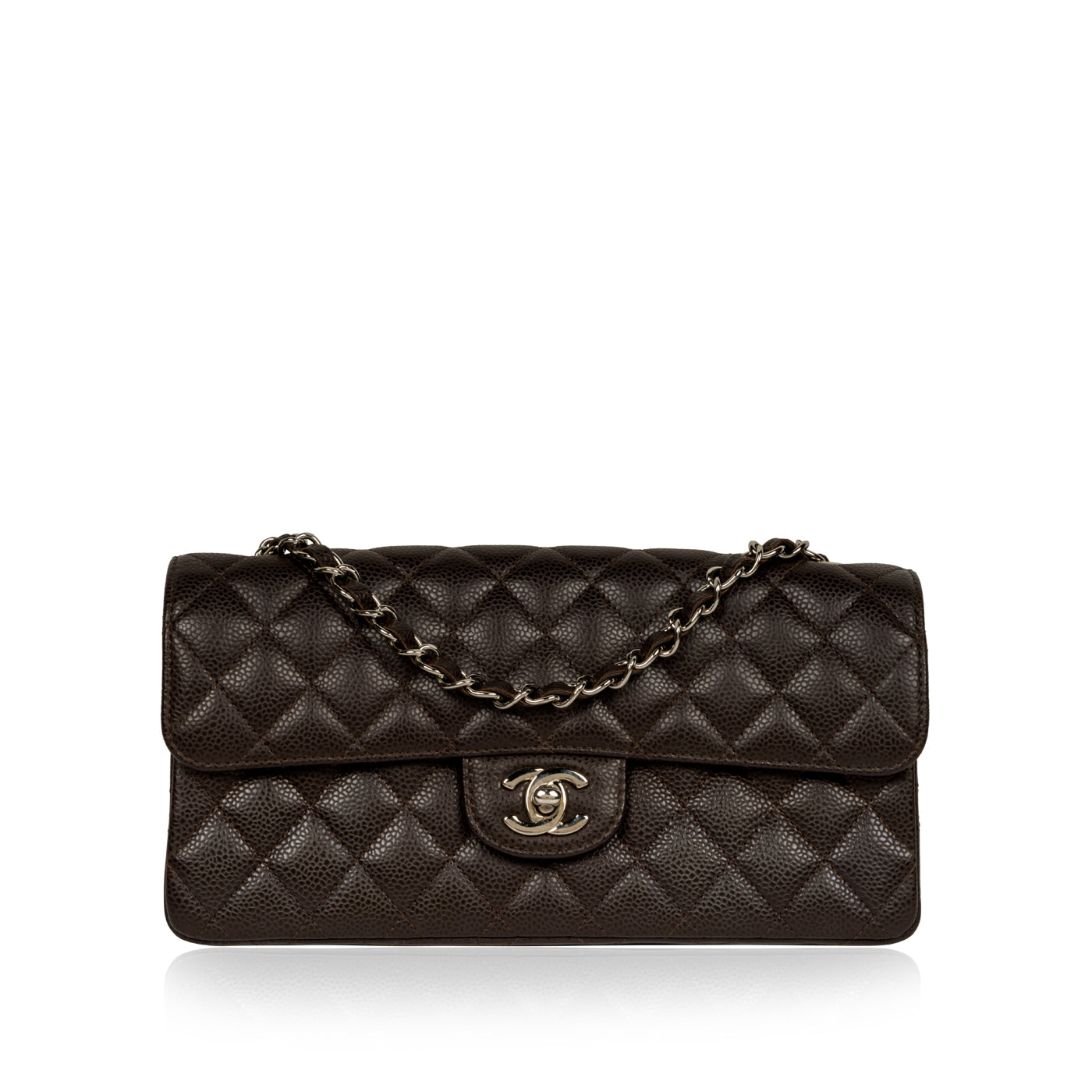 a594298ac1fd Chanel - East West Flap Bag - Brown - Caviar Leather - Pre-Loved ...