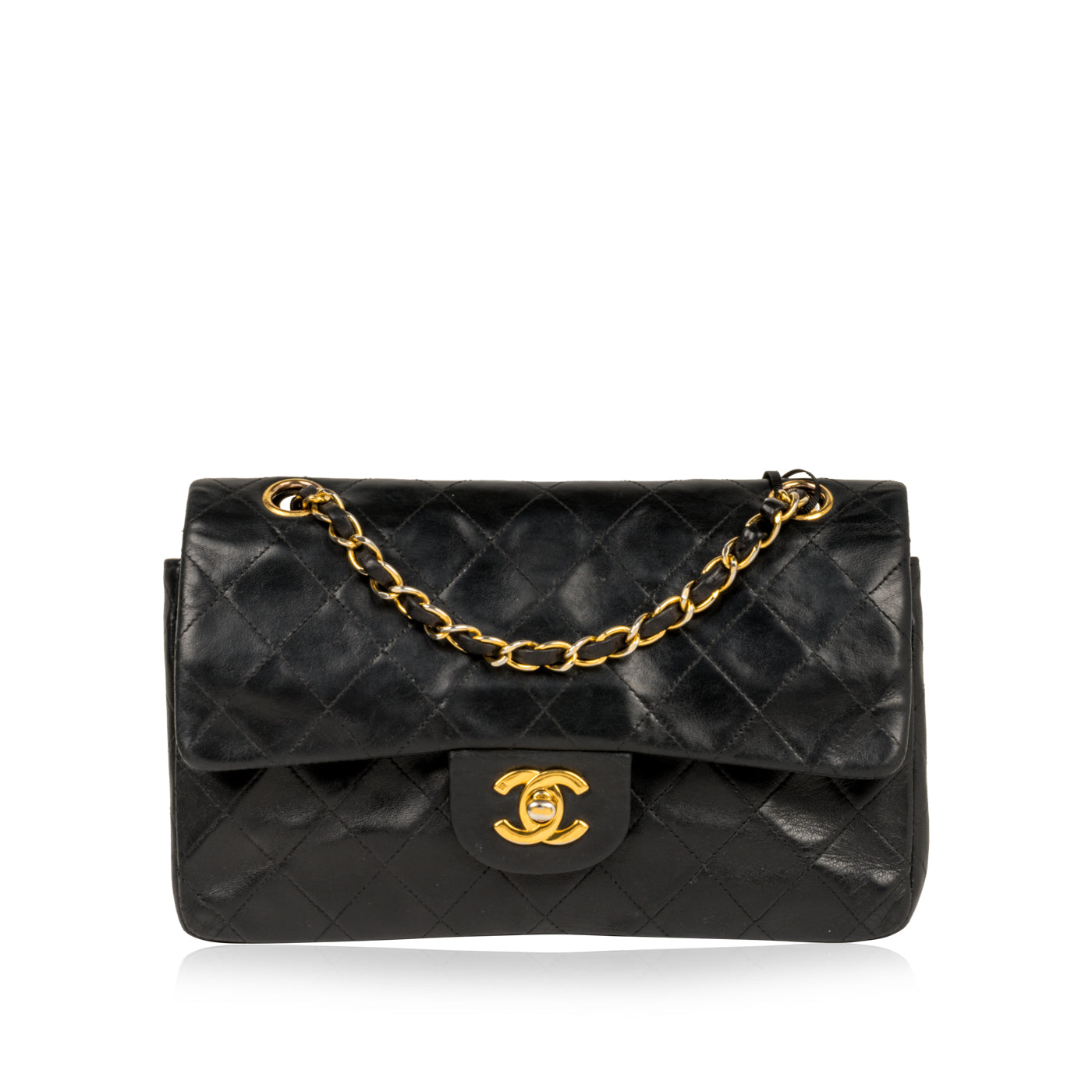 74a5a1a90b5827 Chanel - Classic Flap Bag Small - Black Lambskin - GHW - Vintage ...