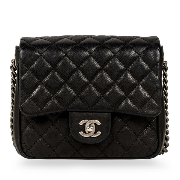 Quilted Caviar Shoulder Bag