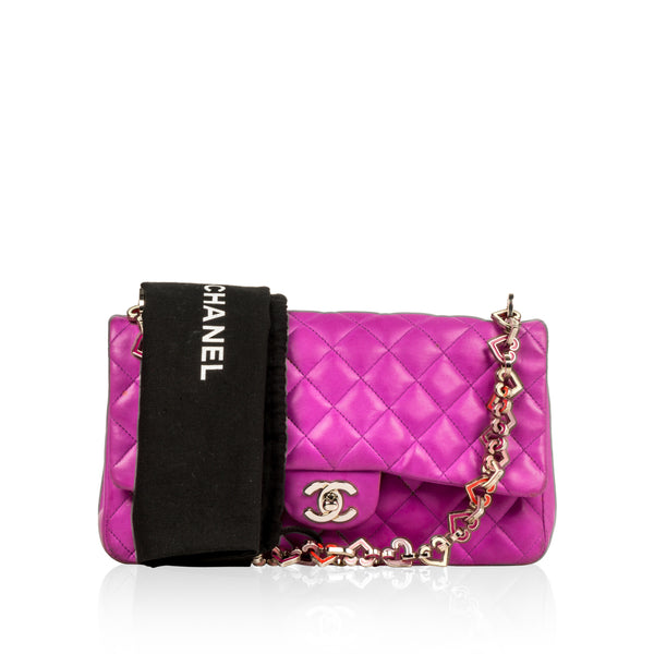 Valentine flap Bag - Purple