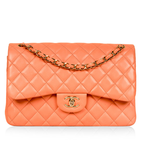 Classic Flap Bag - Jumbo - Peach