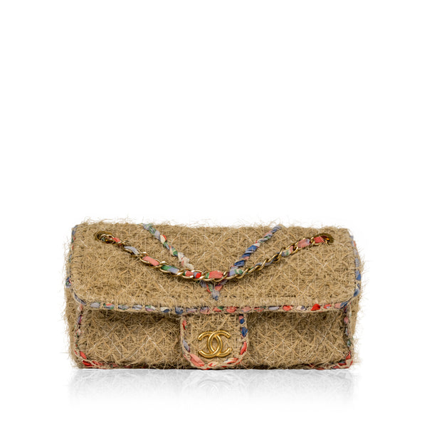 Straw Classic Flap Bag