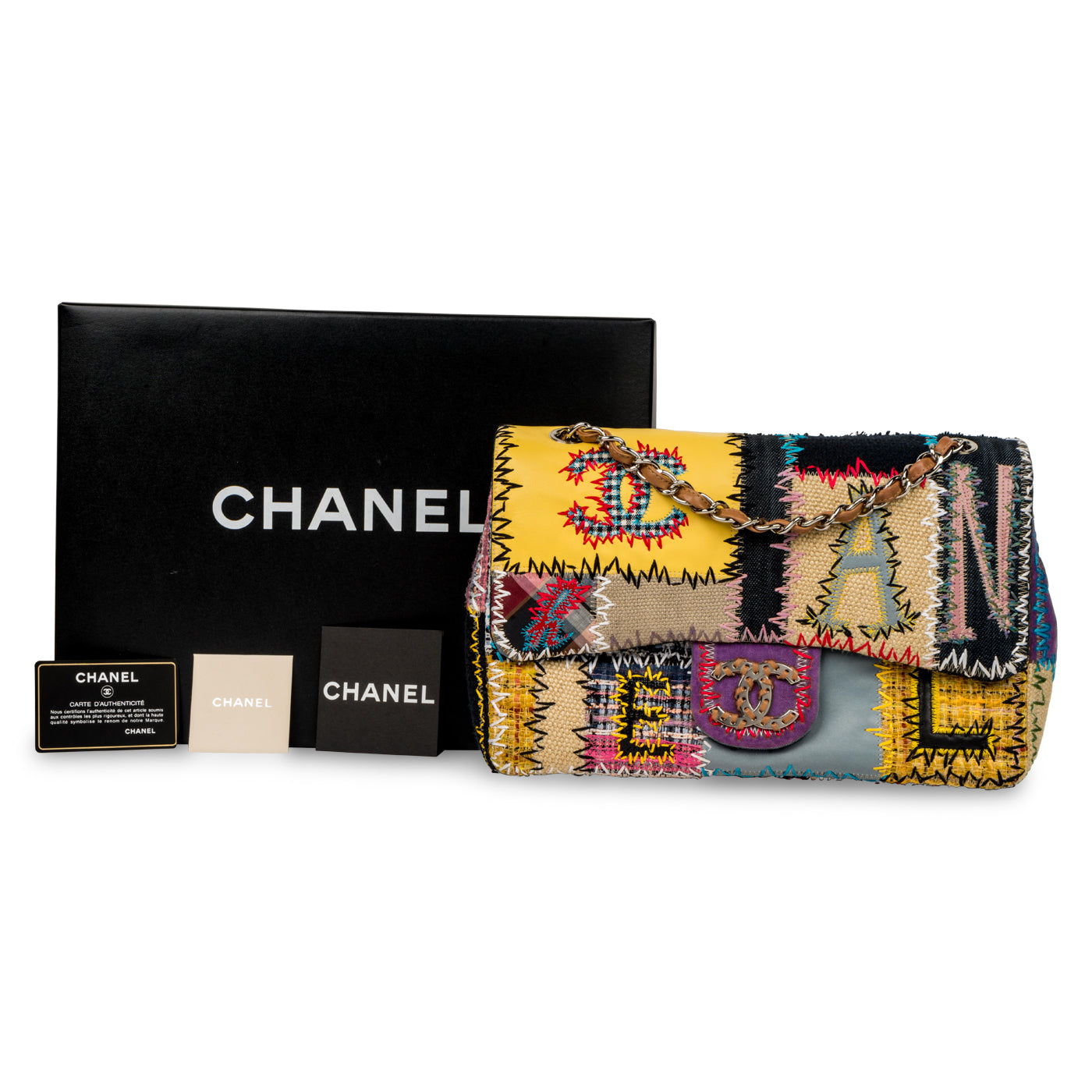 078e182f4aa2 Chanel - Patchwork Jumbo Classic Flap Bag - Pre-Loved | Bagista