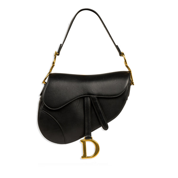 Saddle Bag - Black Leather