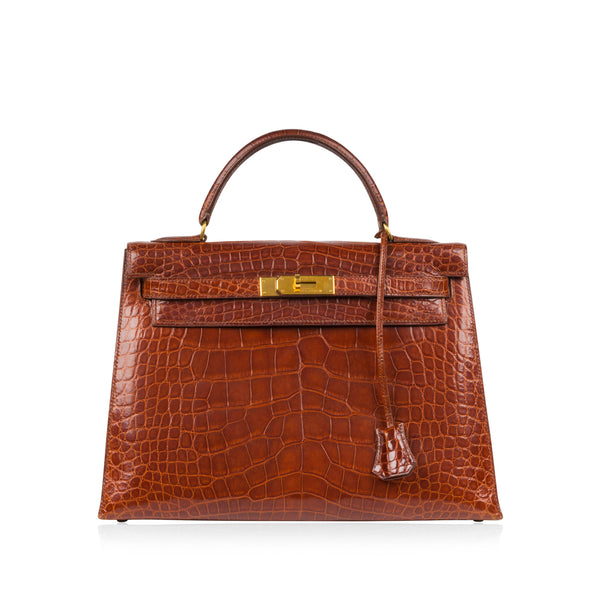 Kelly 32 - Havana Brown Alligator