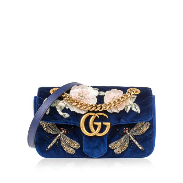 GG Marmont Velvet Sequin Mini Handbag