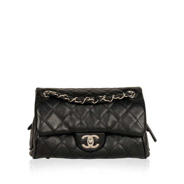 Small Bowler Caviar Shoulder Bag