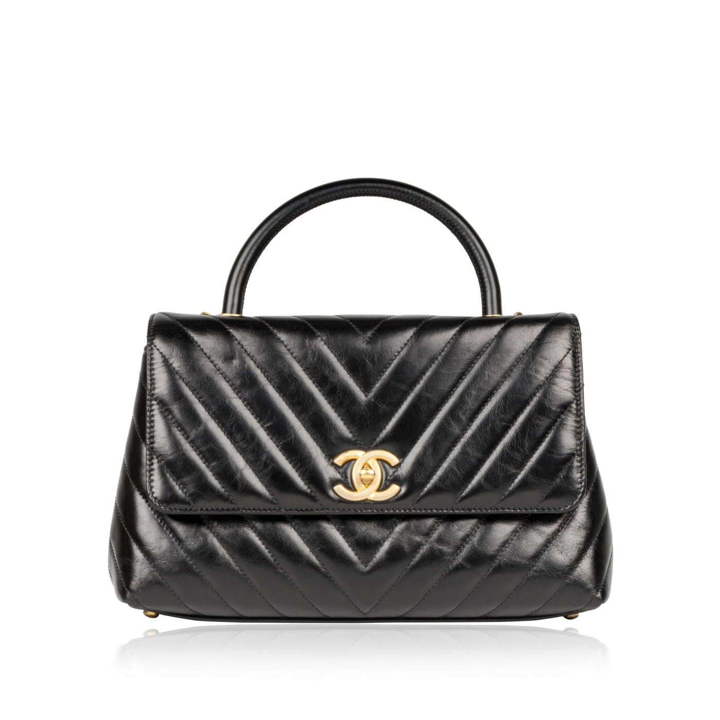 b2800a247e97d3 Chanel - Coco Handle Flap Bag - Small - Black - Pre-Loved | Bagista