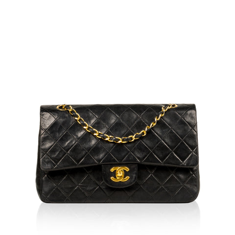 9a826dc881b3bb Chanel - Classic Flap Bag - Medium - Black Lambskin - GHW - Pre ...