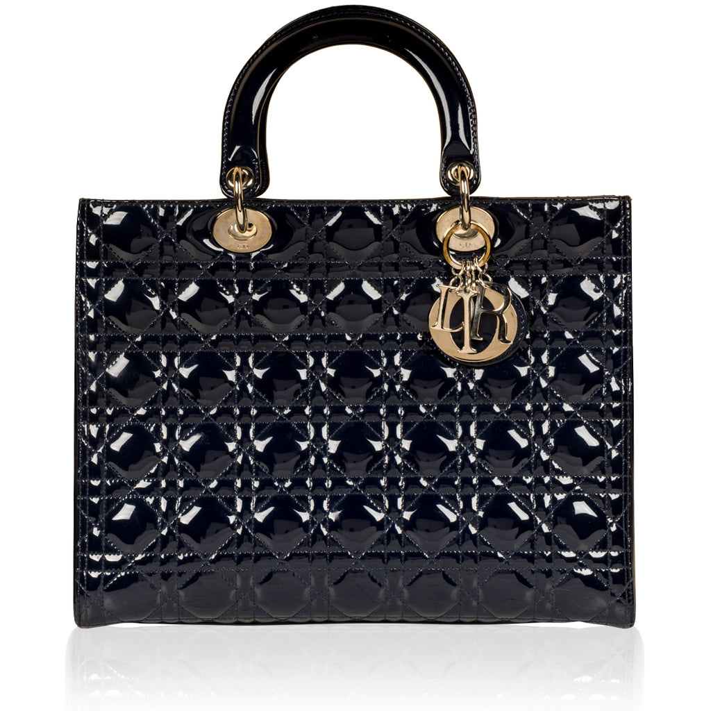 Lady Dior - Large - Patent