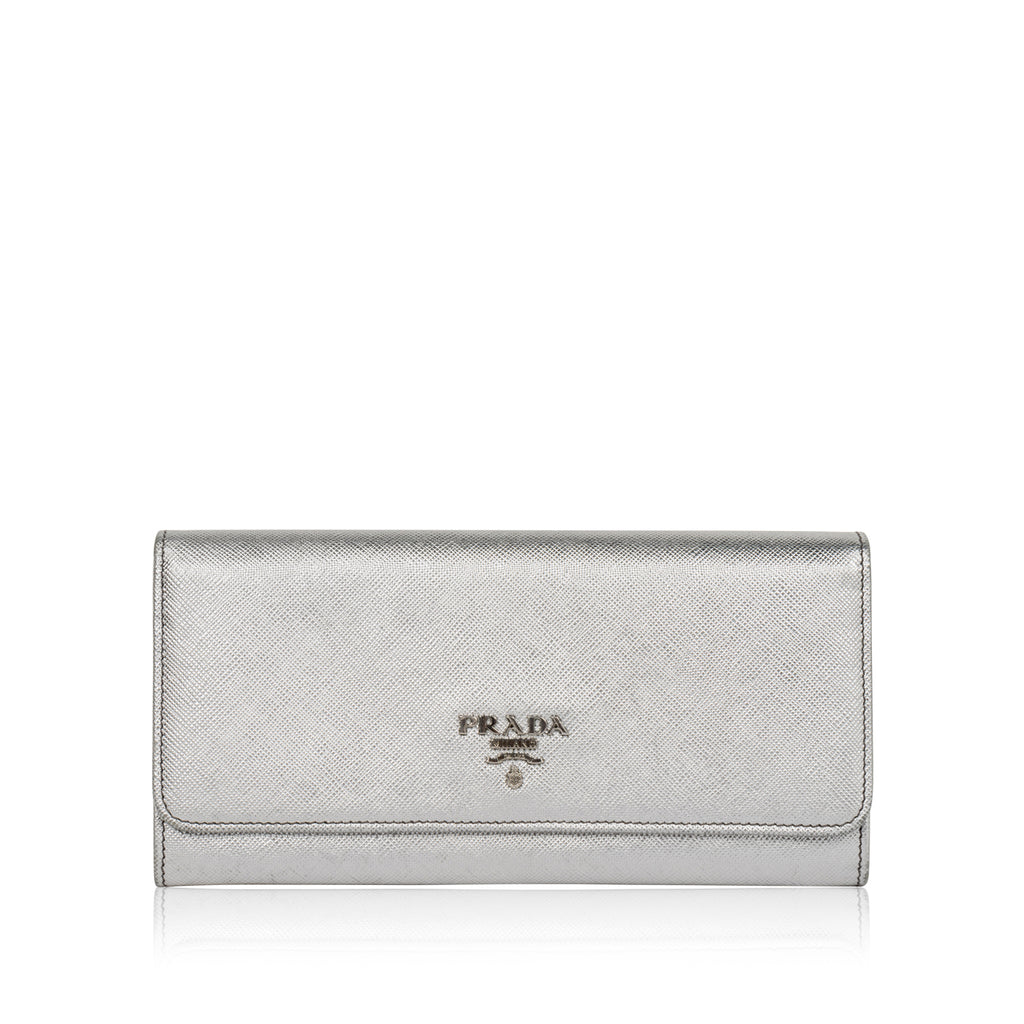 Metallic Saffiano Wallet