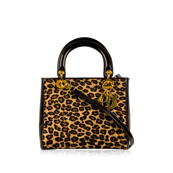 Lady Dior Medium - Leopard Fur