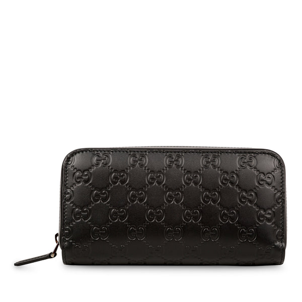 Signature GG Zip around large wallet
