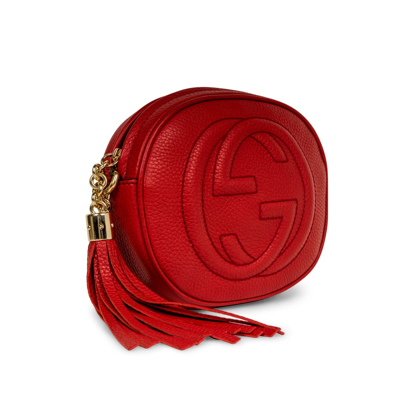 3b59f8022332 Gucci - Soho Disco Chain Bag - Red - Pre Loved | Bagista