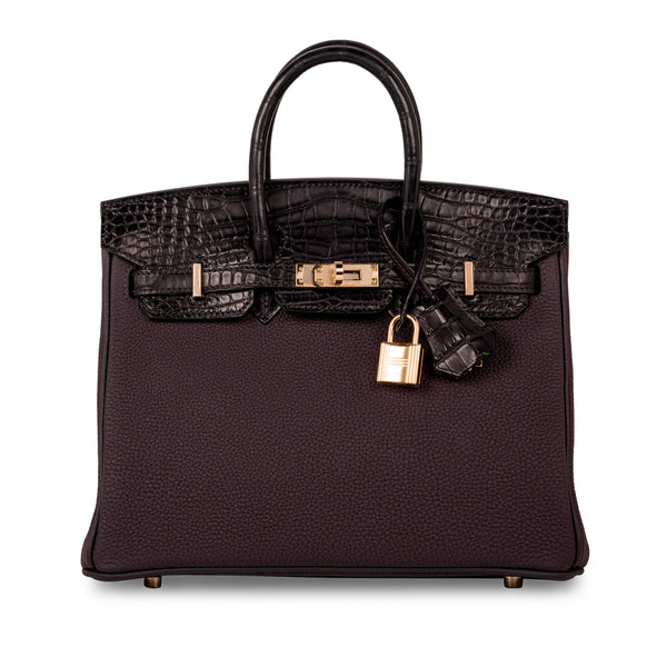 Birkin 25 Touch - Raisin Prunoir Togo/Alligator