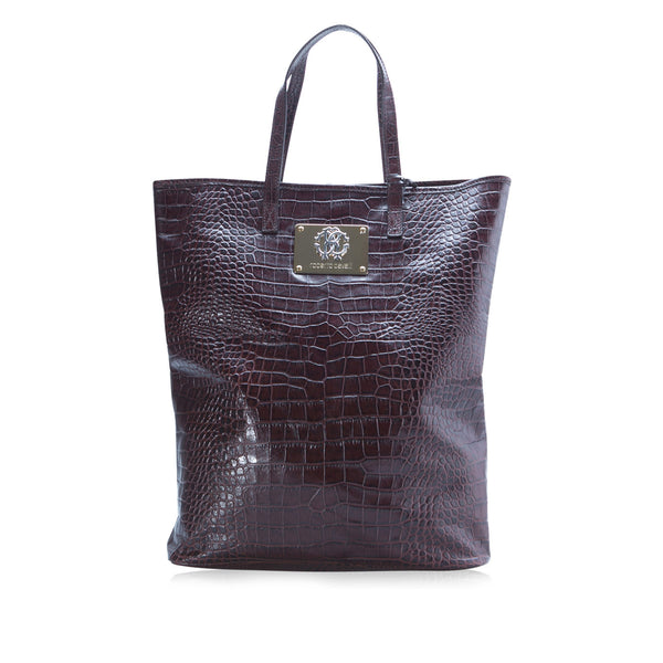 Croc Embossed Shopper