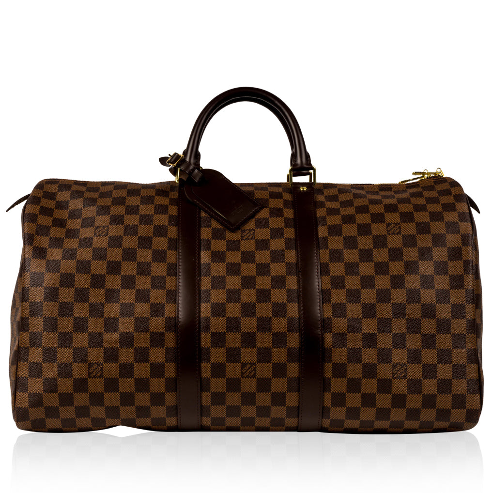 Keepall 50 - Damier Ebene Canvas