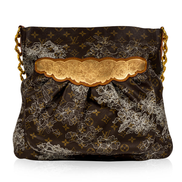 Large Shoulder Bag - Monogram Dentelle