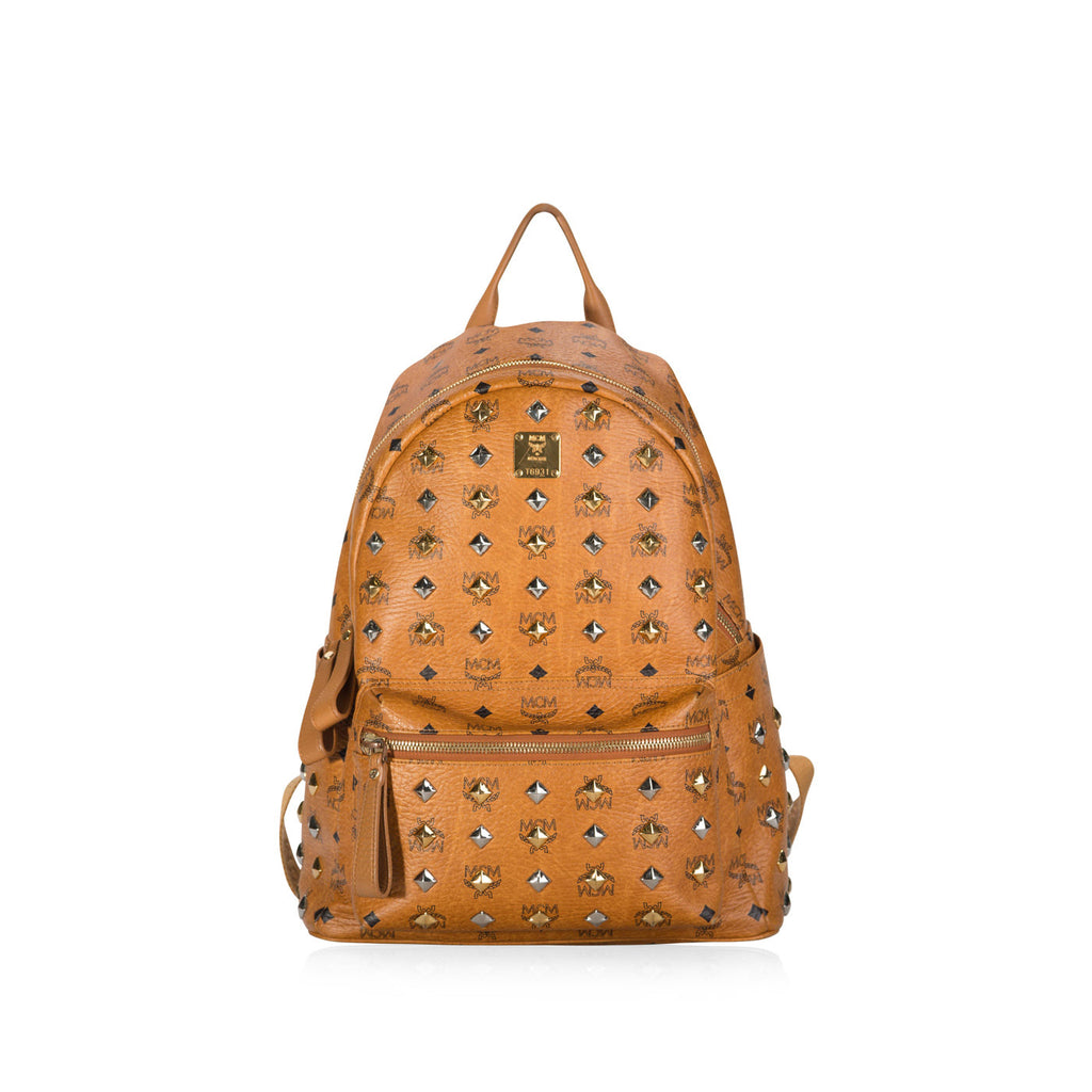 Stark Studded Cognac Backpack