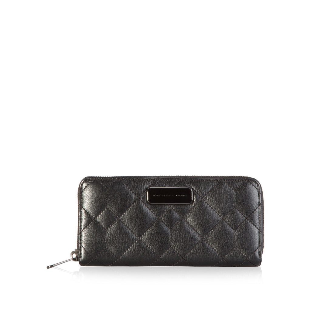 Quilted Slim Zip Wallet