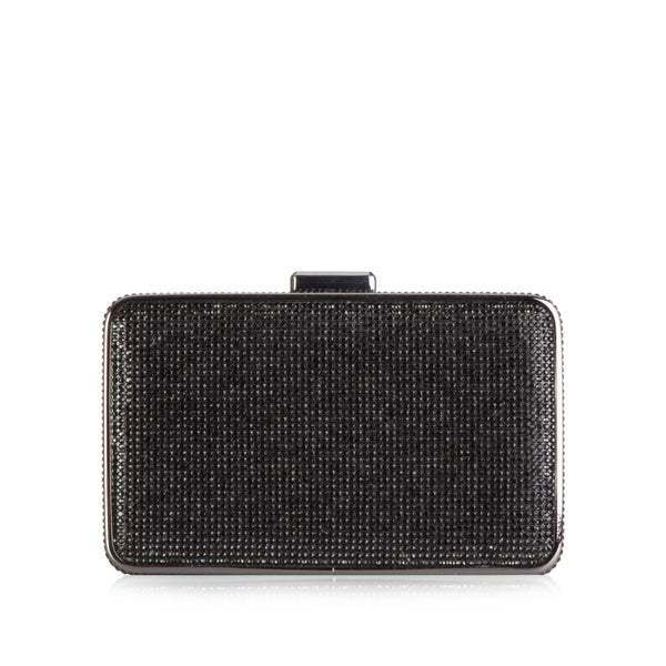 Elsie Crystal Embellished Box Clutch