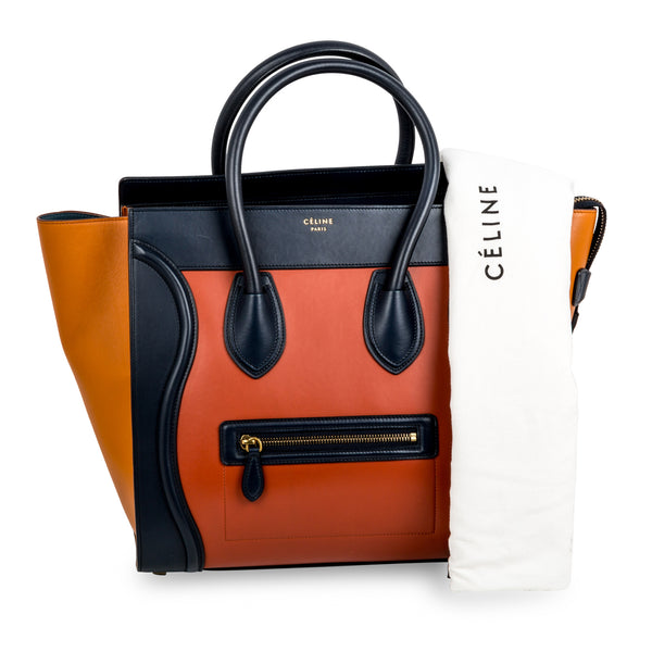 Tri-colour Mini Luggage Tote