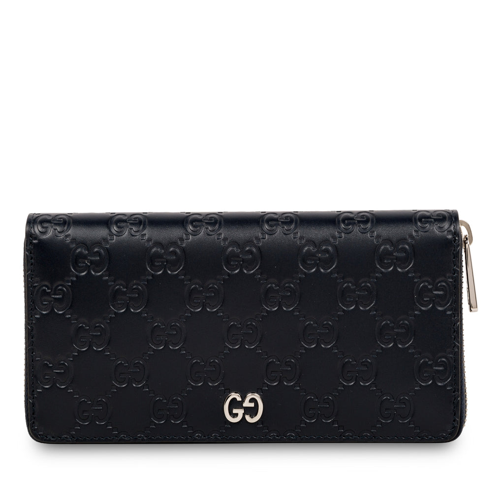 Signature GG Zip around wallet