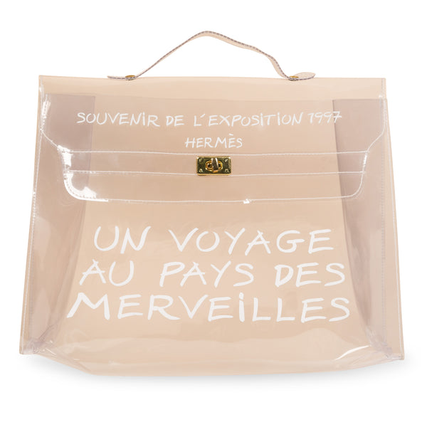 Transparent Vinyl Kelly Beach Bag