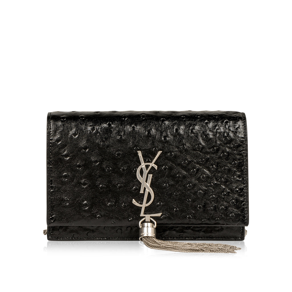 Small Kate Tassel Bag - Faux Ostrich