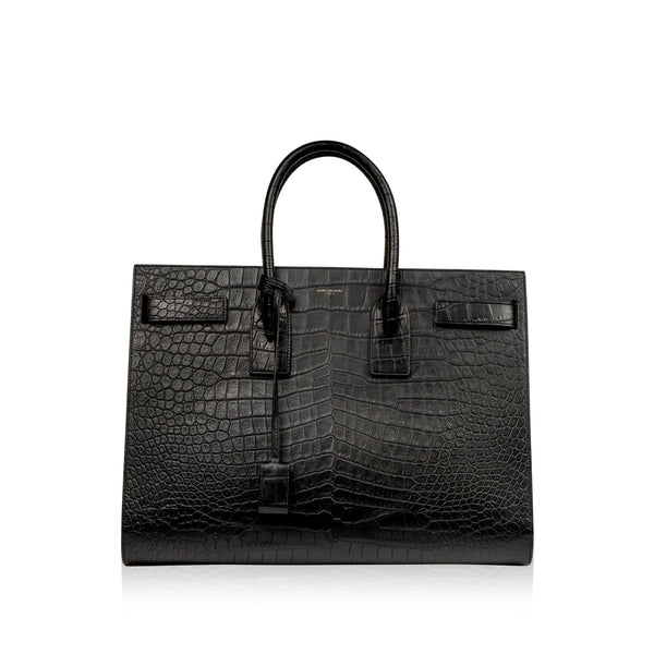 Large Sac De Jour - Croc Embossed
