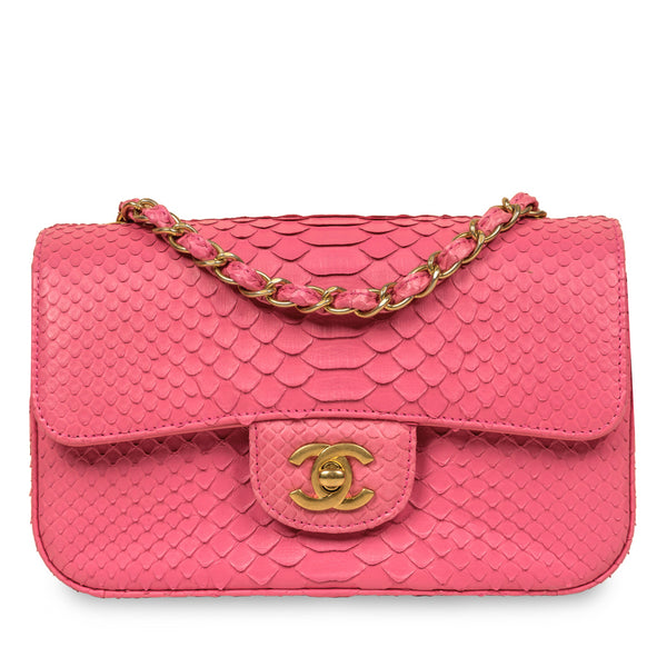 Classic Flap Bag - Mini Rectangular - Python