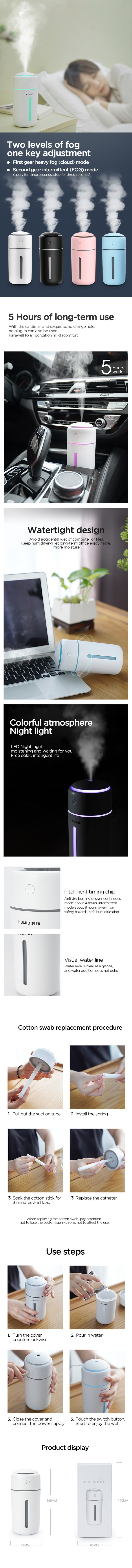 Rechargeable Smart Humidifier details