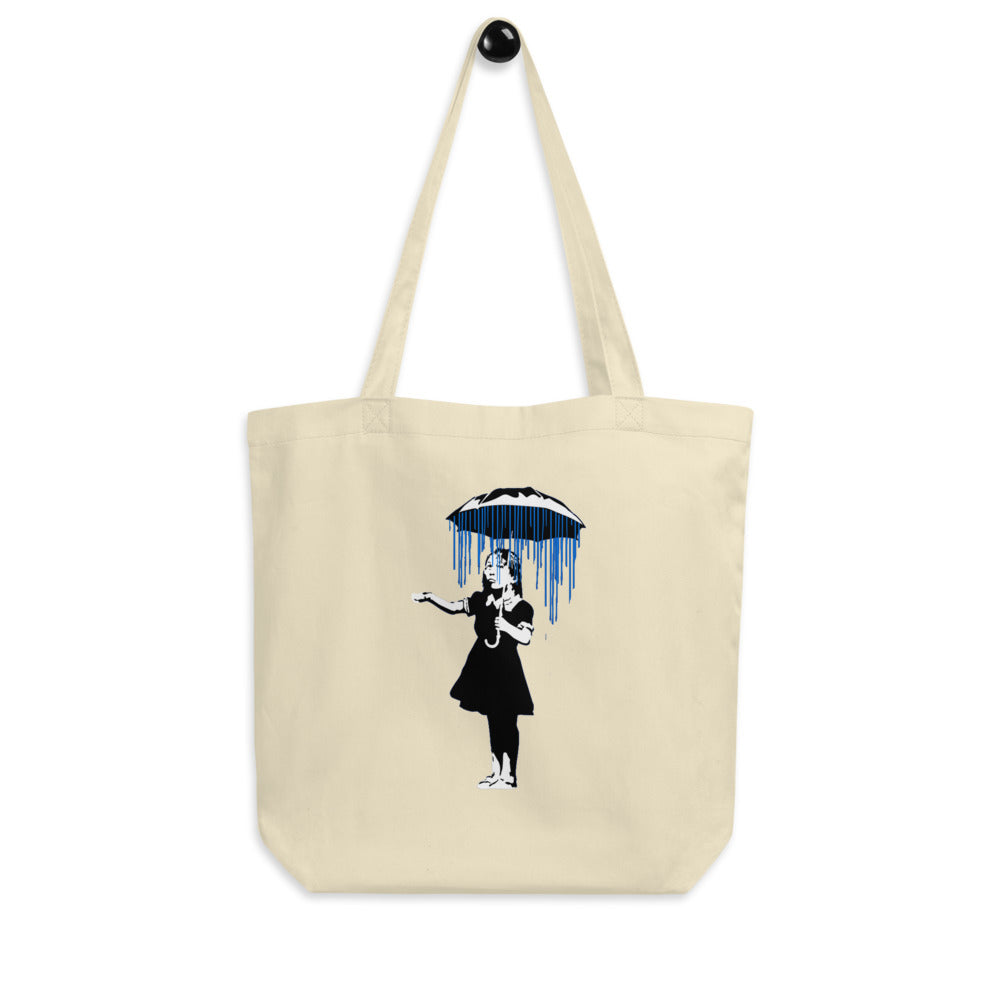Banksy Raining on the Inside Eco Tote Bag