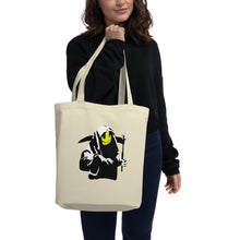 Load image into Gallery viewer, Banksy Smiling Grim Reaper Eco Tote Bag