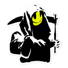Load image into Gallery viewer, Banksy Smiling Grim Reaper Stickers